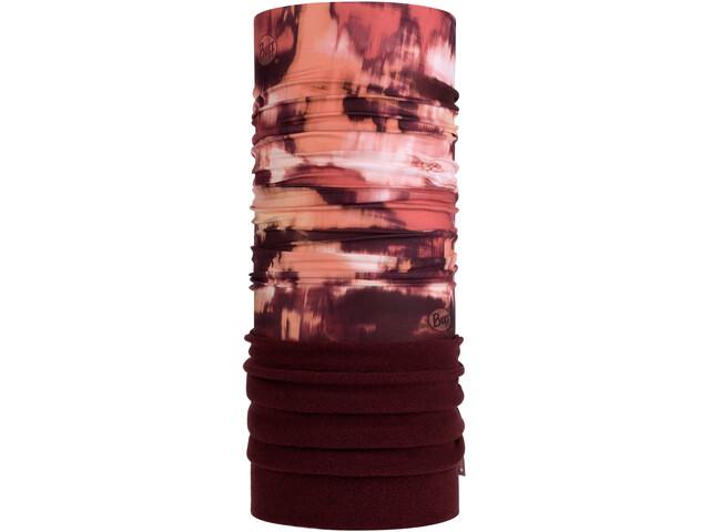Buff Pañuelo Tubo Polar, rojo/marrón